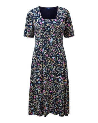 Tummy Control Floral Dress