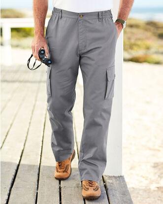 Cargo Side Elasticated Waist Trousers