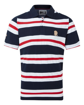 England Rose Short Sleeve Stripe Polo Shirt