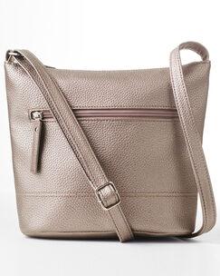 Zip Front Cross Body Bag