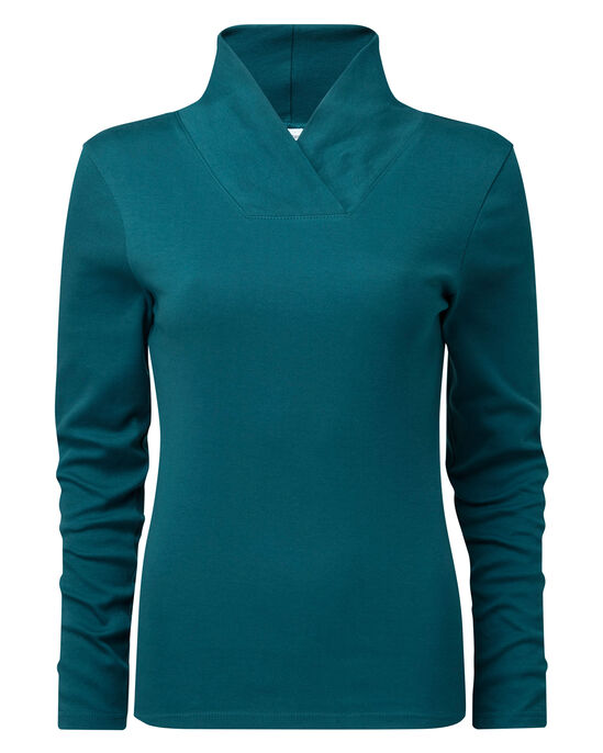 Supersoft Shawl Neck Top