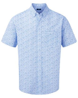 Floral Print Classic Seersucker Shirt