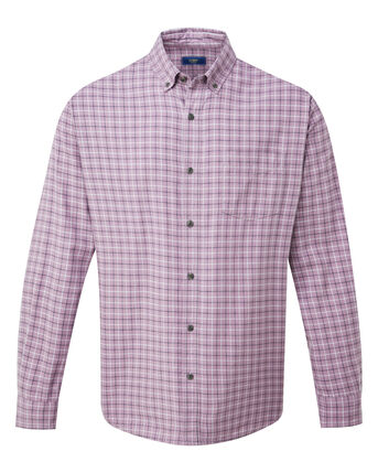 Long Sleeve Tattersall Twill Check Shirt