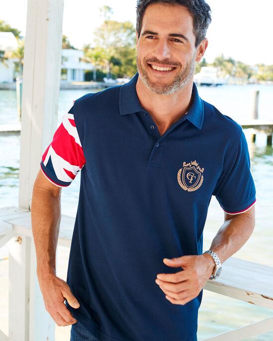 Flag Short Sleeve Polo Shirt