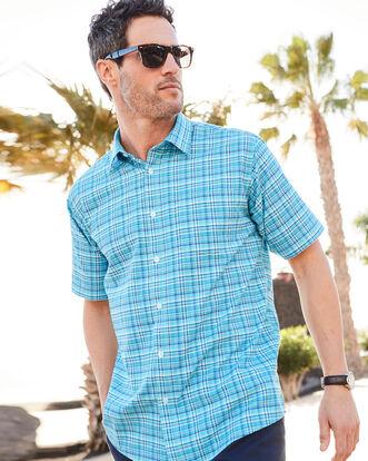 Azure Short Sleeve Oxford Shirt