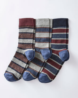 Pack of 3 Comfort Top Stripe Socks