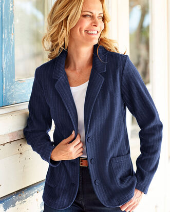 Womens Fleece Blazer