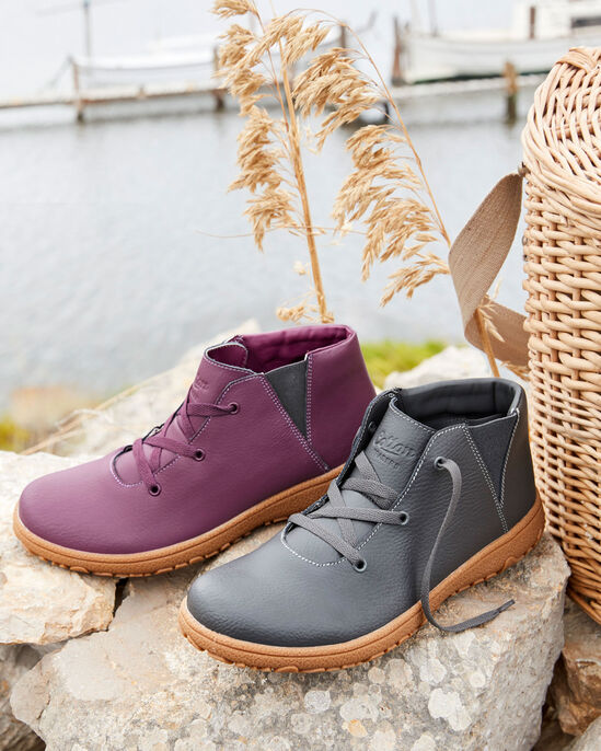 Leather Lace-up Boots