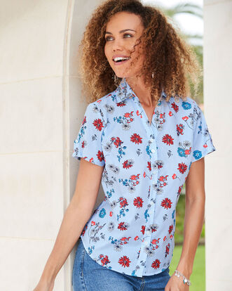 Short Sleeve Crease Resistant Shirt