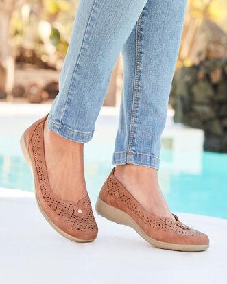 Flexi Slip-on Flower Shoes