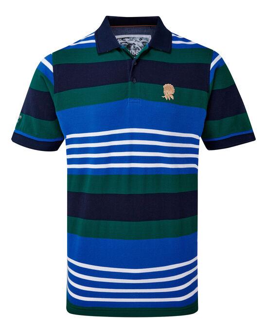 England Rose Stripe Polo Shirt