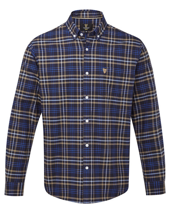Guinness Long Sleeve Oxford Check Shirt