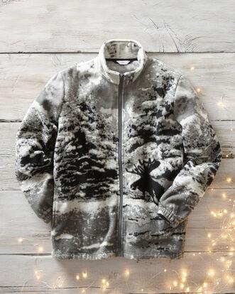 Animal Print Fleece Jacket