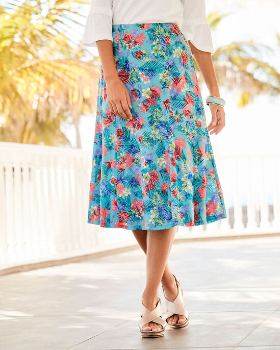 Floral Burn Out Midi Skirt