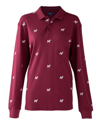 Light Berry Long Sleeve Jersey Westie Polo Shirt