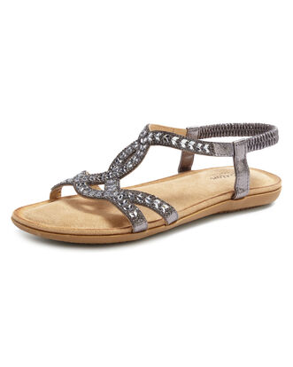Cushioned Jewelled Sandals
