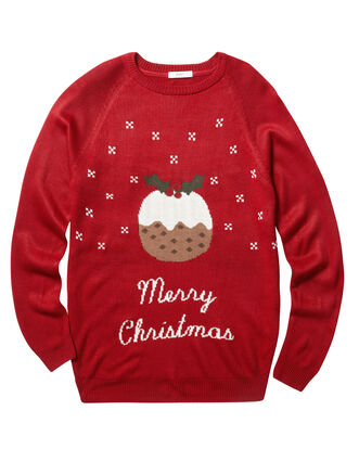 Classic Red Crew Neck Christmas Jumper