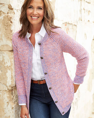 Textured Button-through Cardigan