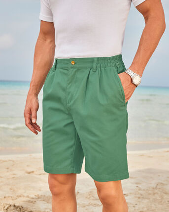 Pleat Front Comfort Shorts