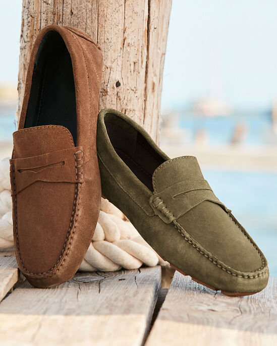 Suede Driving Loafers