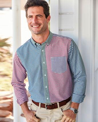 Panelled Long Sleeve Oxford Shirt
