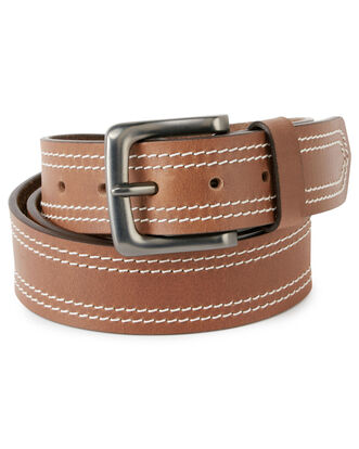 Men's Tonal Stitch Leather Belt