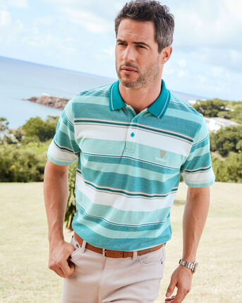 Guinness® Birdseye Stripe Polo Shirt