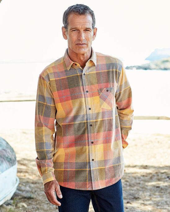 Long Sleeve Check Cord Shirt