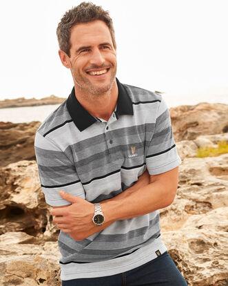 Guinness Birdseye Stripe Polo Shirt