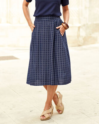 Easy Wear Print Skirt