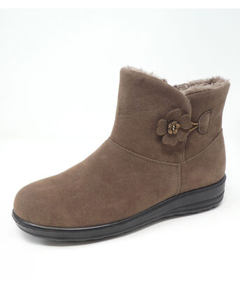 Flower Button Snug Boots