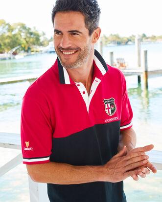 Guinness® Short Sleeve England Polo Shirt
