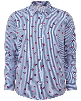 Stripe Wrinkle Free Long Sleeve Shirt