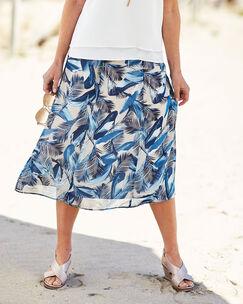 Print Midi Skirt