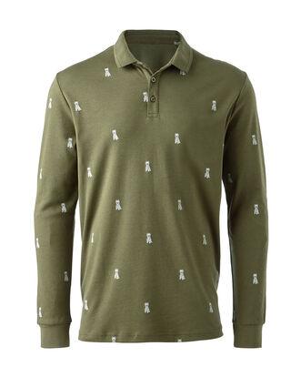Leaf Long Sleeve Jersey Westie Polo Shirt