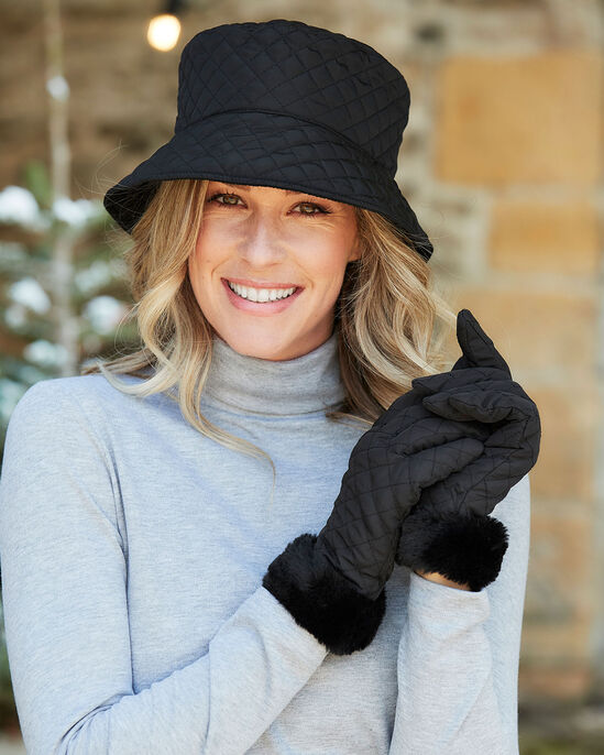 Quilted Hat and Glove Set