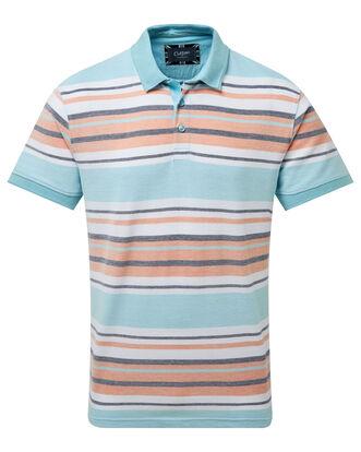 Birdseye Stripe Polo Shirt