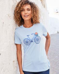 Short Sleeve Embroidered Novelty T-shirt