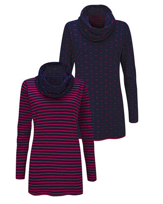 Reversible Cowl Neck Tunic