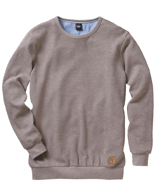 Rib Crew Neck Sweatshirt