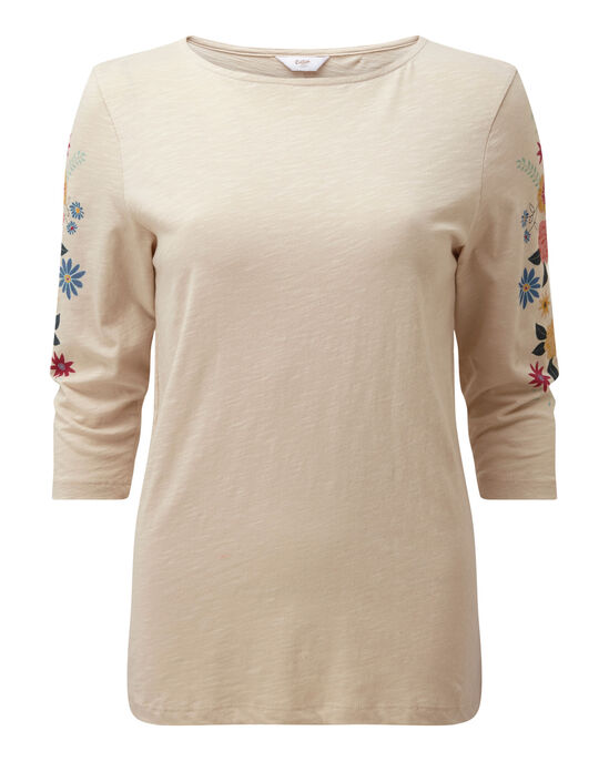 Printed Sleeve Top