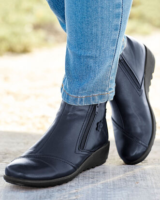 Flexisole Dual Zip Flower Detail Boots