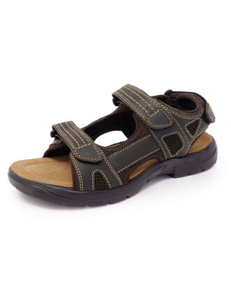 Leather Mesh Strider Sandals