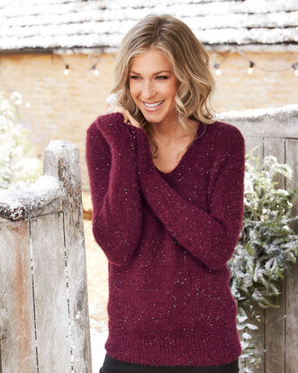 Sequin Fluffy Jumper