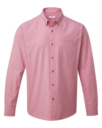 Pale Coral Long Sleeve Classic Oxford Shirt