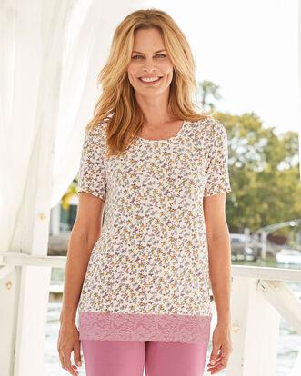 Jersey Floral Pyjama Top