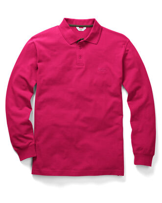 Dark Pink Long Sleeve Polo Shirt