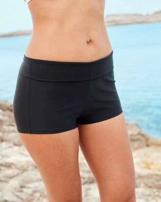 Roll Top Tummy Control Swim Shorts