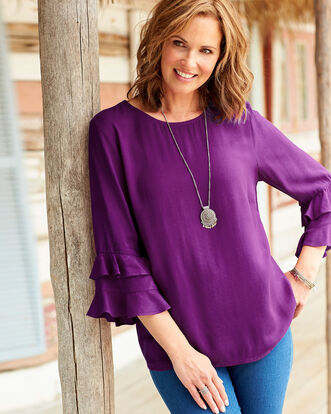 Flute Sleeve Top