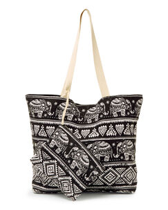 Elephant Print Bag and Purse Set